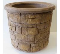 Бетонная декоративная цветочница для сада Древний пласт Д-053. 40 литров
