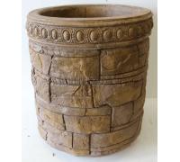 Бетонная декоративная цветочница для сада древний пласт Д-059. 40 литров