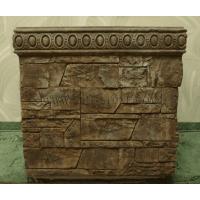 Бетонная декоративная уличная цветочница древний пласт Д-004. 60 литров